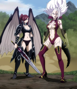 Erza_and_Mirajane_defend_Crawford